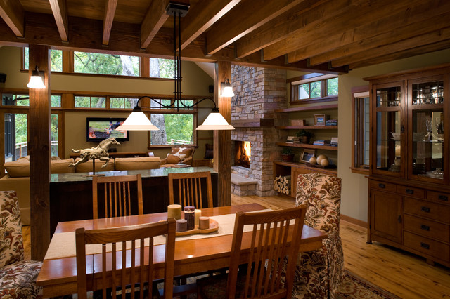 Mountain Charm traditional-dining-room