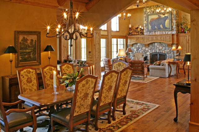 Mountain Lodge eclectic-dining-room