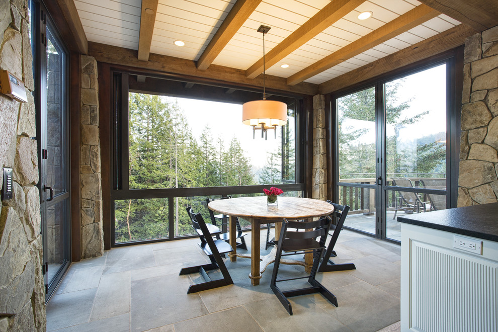 Mountain Lodge Eclectic Rustic, Mountain Lodge Dining Room Furniture