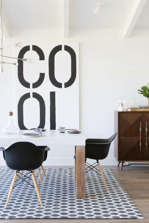 Photo By Elena Calabrese Design U0026 Decor Gone Are The Days When Dining Rooms  Needed To Be Stuffy To Be Sophisticated. A Black And White Dining Room Can  Look ...