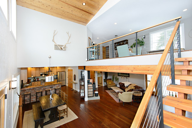 Mountain Primitive Modern eclectic-dining-room