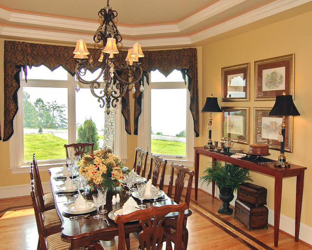 Mountain top view transitional dining room charlotte for Best transitional dining rooms