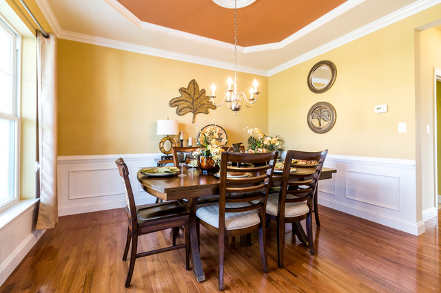 Mountainview new home community model home dining room for Model home dining room