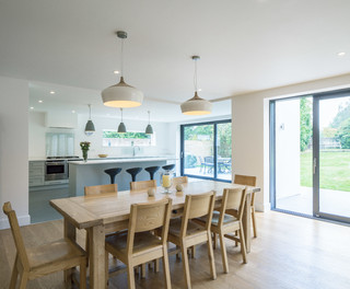 Mulberry Contemporary Dining Room London By Create Kitchen