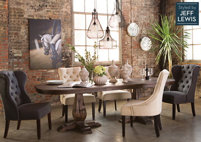 Charmant Enclosed Dining Room   Mid Sized Traditional Concrete Floor Enclosed Dining  Room Idea In Los. Email Save. Living Spaces