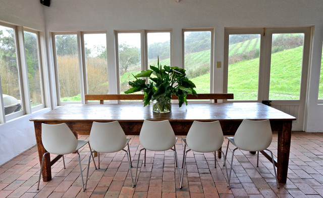 My Houzz 140 Year Old Mud Brick Home Farmhouse Dining Room