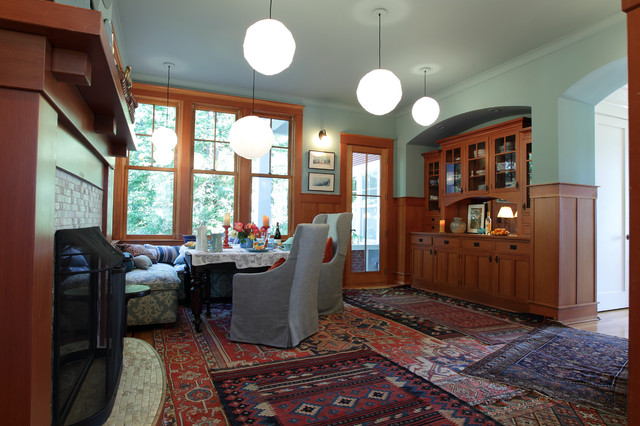 My Houzz: A Multifunctional Dining Room Transitional Dining Room