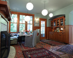 My Houzz: A Multifunctional Dining Room transitional-dining-room