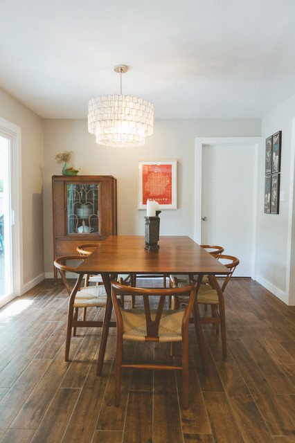 My Houzz A Traditional Ranch Gets Modern Makeover Eclectic Dining Room