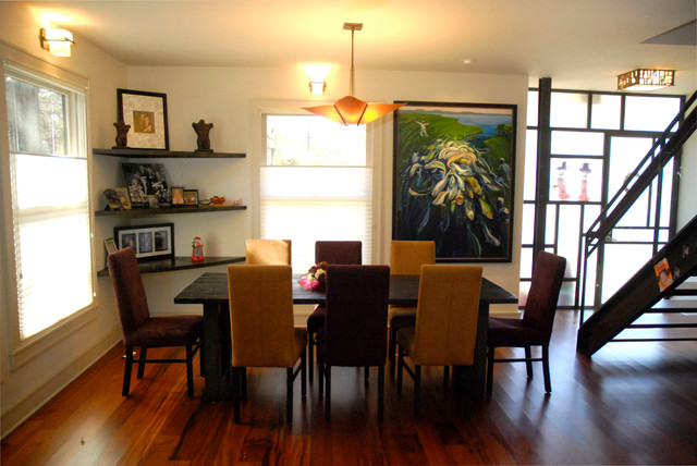 My Houzz: An Art-Filled Austin Home Has Something to Add contemporary-dining-room
