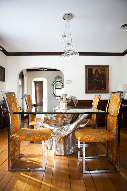Eclectic Dining Room by Tess Fine