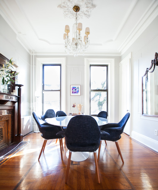 My Houzz Art And Antiques Enliven A Brooklyn Brownstone Modern Delectable Dining Room Brooklyn