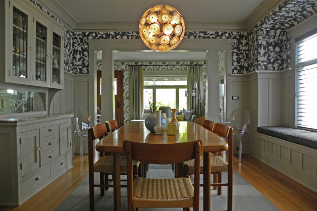 Houzz Wallpaper Dining Room: My Houzz: Bold Wallpaper Kicks Up A Century-Old Craftsman