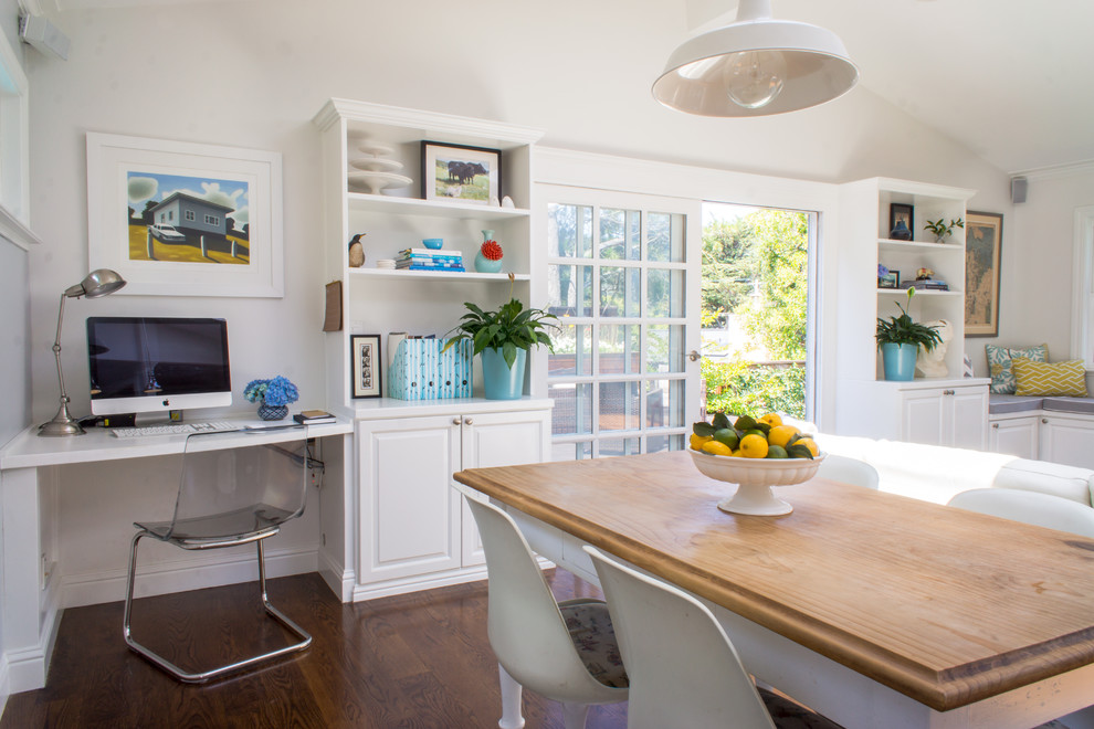 Example of a transitional dining room design in San Francisco