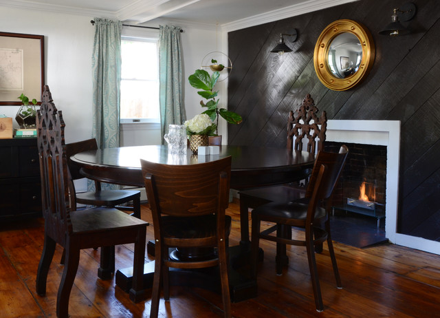 My houzz classic style with a colorful diy twist in new for New england dining room ideas