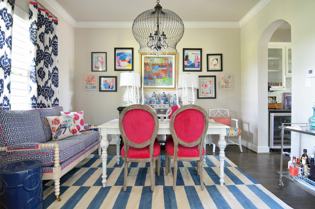 My Houzz Color Happy Country Living In Fort Worth Eclectic Dining Room