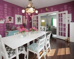 Dallas: Alicia + Adam eclectic-dining-room