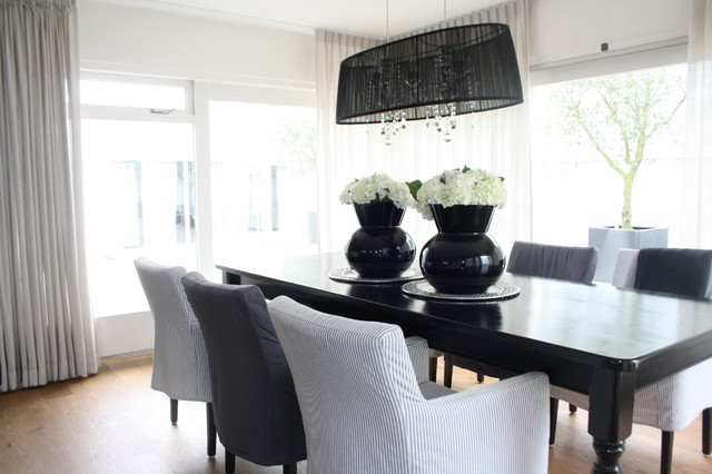 My Houzz: Country Chic family home in the Netherlands contemporary-dining-room