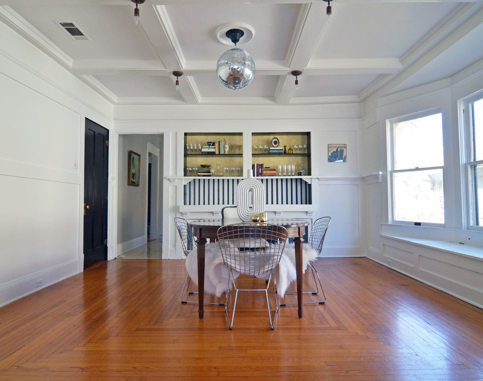 Inspiration for an eclectic dining room remodel in Dallas
