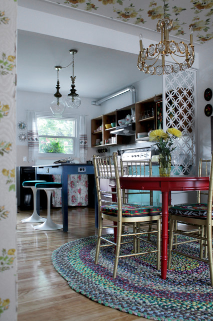 My Houzz DIY Charm And Thrifty Finds In Montreal Eclectic Dining Room
