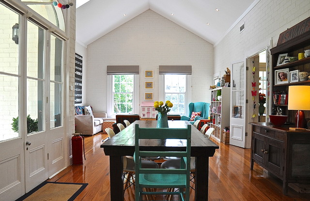 My Houzz Eclectic Style And Color Rule Here Dining Room