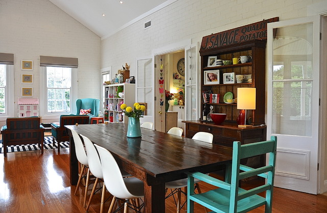 My houzz eclectic style and color rule here eclectic for Www houzz com dining rooms