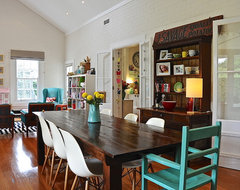 My Houzz: Eclectic Style and Color Rule Here eclectic-dining-room