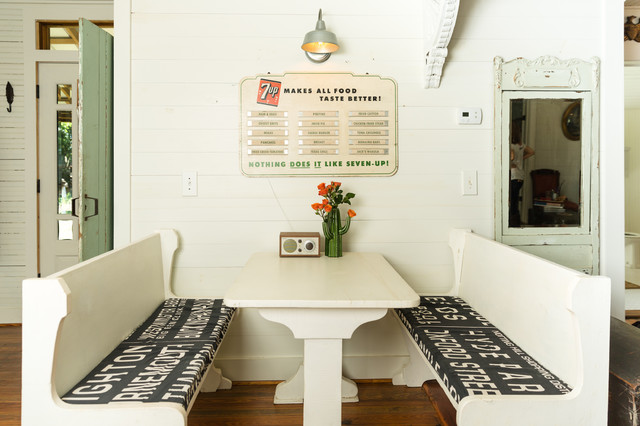 My Houzz Eclectic Vintage Charm In A Family S Texas Farmhouseshabby Chic Style Dining Room Austin