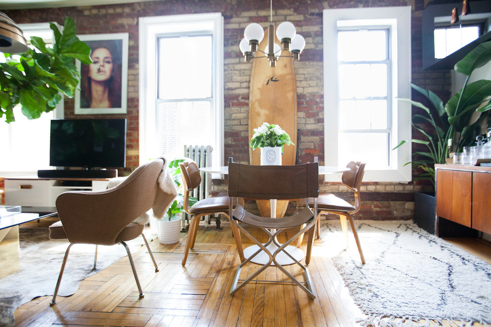 Inspiration for an industrial dining room remodel in New York