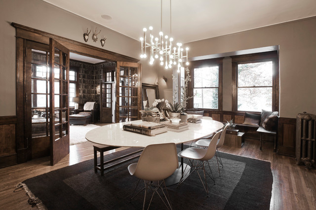 My Houzz: Modern and Moody Nostalgia in Salt Lake City contemporary-dining-room