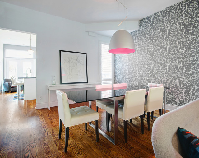 Houzz Wallpaper Dining Room: My Houzz: Modern Dundas West Townhouse Renovation
