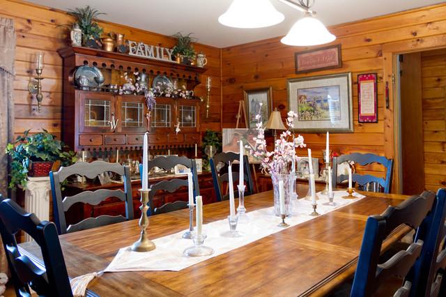 My Houzz: New York Farmhouse With a Western Feel farmhouse-dining-room