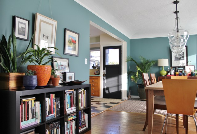 My Houzz Paint And Pluck Revamp A Portland Ranch Eclectic Dining Room
