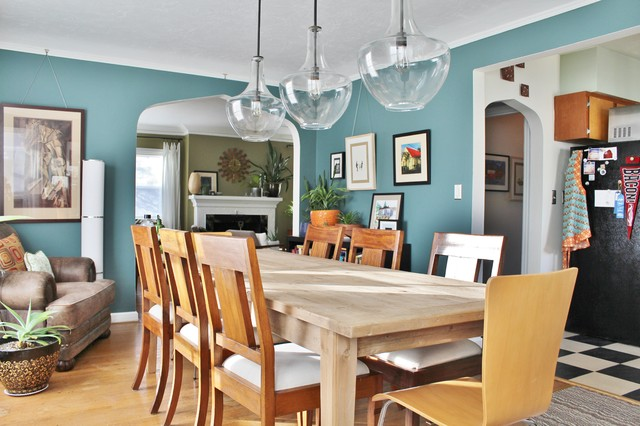 My Houzz Paint And Pluck Revamp A Portland Rancheclectic Dining Room