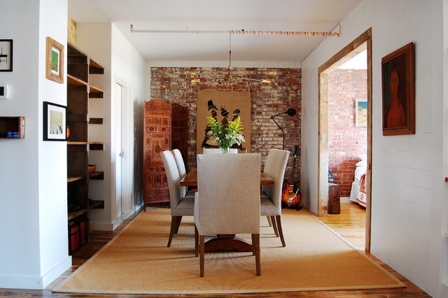 My Houzz Textiles Charm An Open Brooklyn Loft Industrial Dining Room