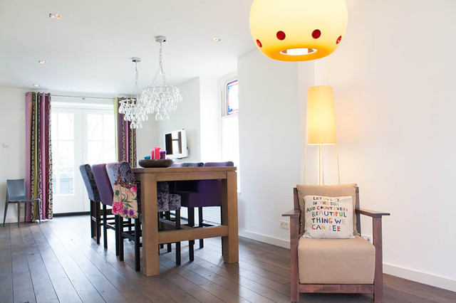 My Houzz: Renovated Farmhouse Merges Historic and Modern Elements contemporary-dining-room