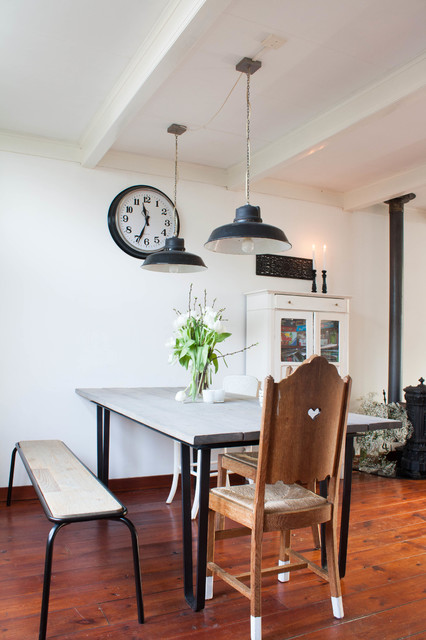 My Houzz: Robust Metal elements mix with eclectic-dining-room