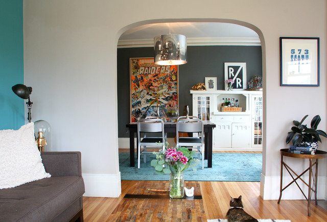 Inspiration For An Eclectic Dining Room Remodel In San Francisco With Gray Walls