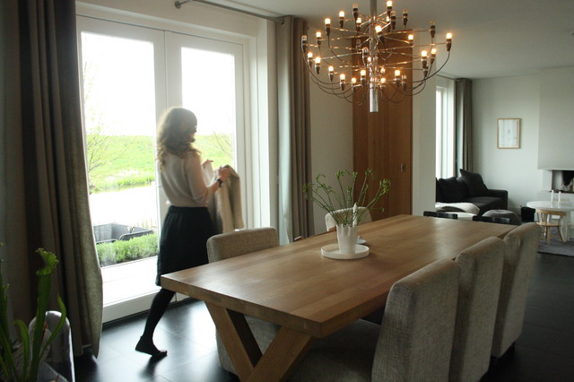 family home breathes scandinavian style contemporary dining room