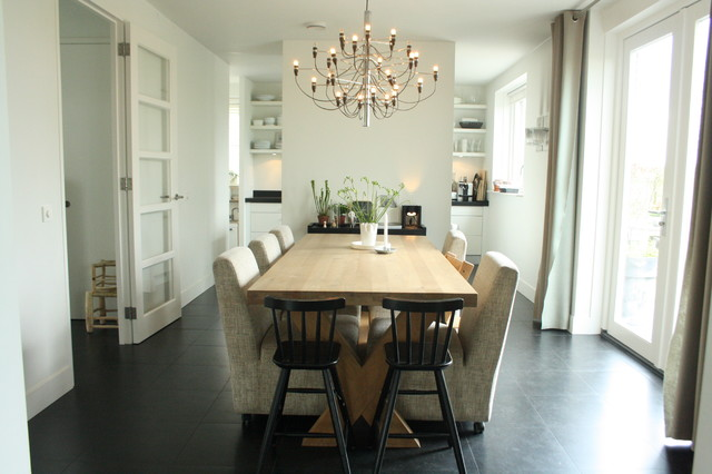 My Houzz Sophisticated Family Home Breathes Scandinavian Style Contemporary Dining Room