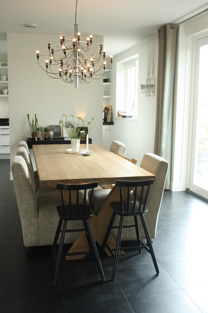 my houzz sophisticated family home breathes scandinavian style modern esszimmer amsterdam. Black Bedroom Furniture Sets. Home Design Ideas