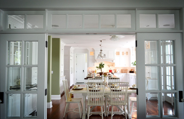 French doors with sidelights houzz example of a dining room design in philadelphia planetlyrics Gallery