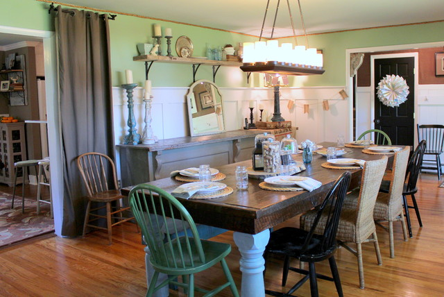 my houzz vintage farmhouse style farmhouse dining room philadelphia by sara bates. Black Bedroom Furniture Sets. Home Design Ideas