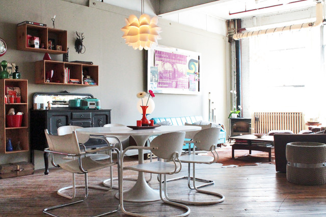 My Houzz  Vintage finds in funky Montreal artists  loft industrial dining  room. My Houzz  Vintage finds in funky Montreal artists  loft
