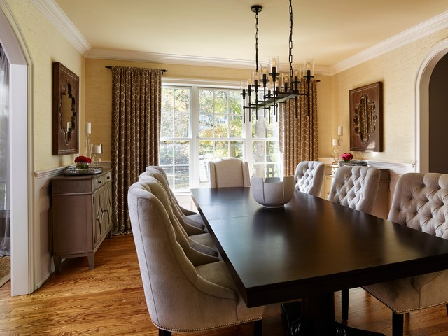Napa Chic Transitional Dining Room Transitional