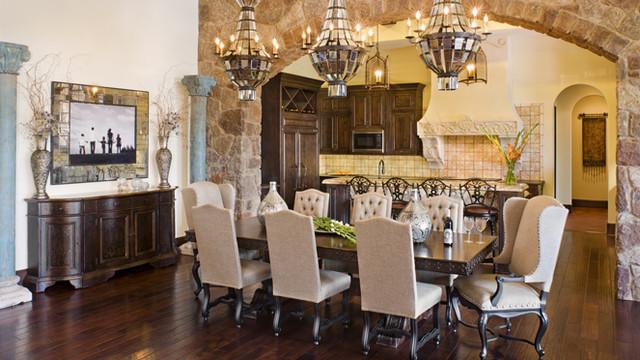 Napa Valley Tuscan Mediterranean Dining Room