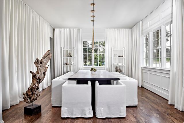 Nashville contemporary window treatments contemporary for Modern dining room window treatments