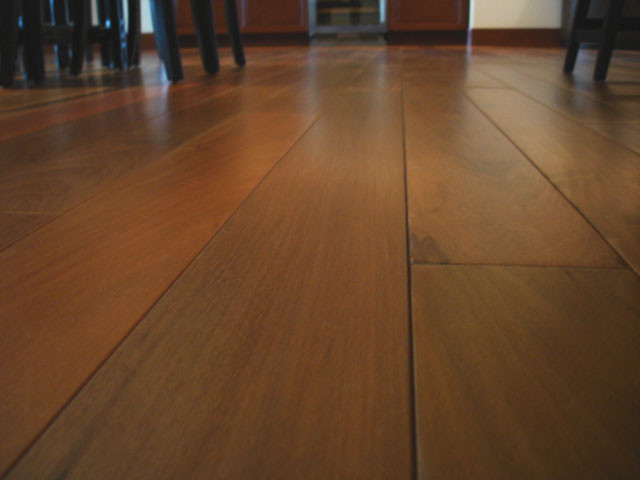 Natural Ipe Floors tropical-dining-room