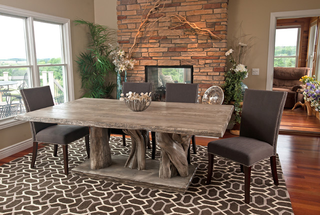 natural wood furniture eclectic dining room other