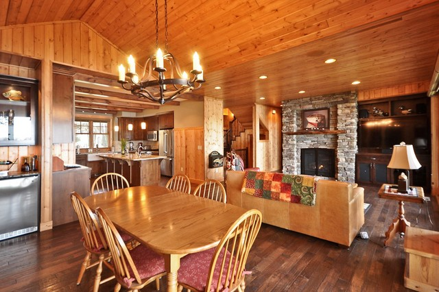 New Cabin, Up North traditional-dining-room